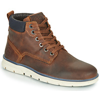 Shoes Boy Mid boots Jack & Jones JR TUBAR LEATHER Brown