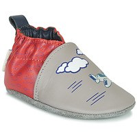 Shoes Boy Slippers Robeez HAPPY WOLF Grey / Red