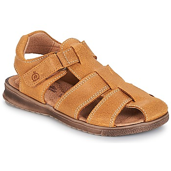 Shoes Boy Sandals Citrouille et Compagnie MELTOUNE Mustard