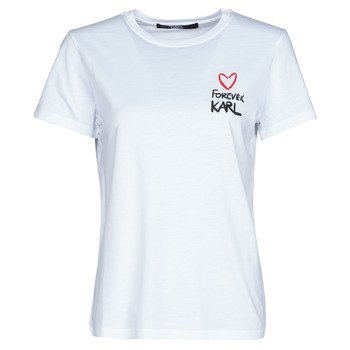material Women short-sleeved t-shirts Karl Lagerfeld FOREVER KARL T-SHIRT White