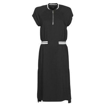 material Women Short Dresses Karl Lagerfeld CADY TENNIS DRESS Black