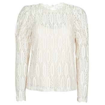material Women short-sleeved t-shirts Cream VIVI LS TSHIRT Beige