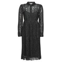 material Women Short Dresses Cream ALICIA DRESS Black