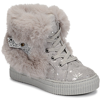 Shoes Girl High top trainers Primigi GIRL ALPHA Grey / Silver
