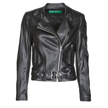 material Women Leather jackets / Imitation le Benetton 2ALB53673 Black