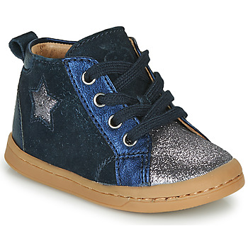 Shoes Girl High top trainers Shoo Pom KIKKI STAR Blue