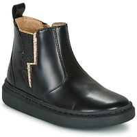 Shoes Girl Mid boots Shoo Pom FLASH JODZIP Black / Gold