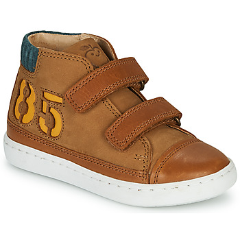 Shoes Boy High top trainers Shoo Pom PLAY ALPHA Brown