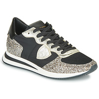 Shoes Women Low top trainers Philippe Model TROPEZ X BASIC Black / Silver