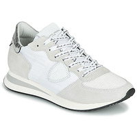 Shoes Women Low top trainers Philippe Model TROPEZ X MONDIAL CROCO White