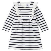 material Girl Short Dresses Petit Bateau LEVRIER White / Marine