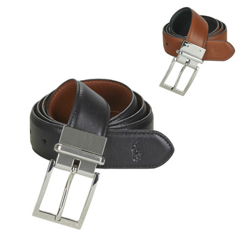 Clothes accessories Men Belts Polo Ralph Lauren RV DRS BT SQ CASUAL SMOOTH LEATHER Reversible / Black / Brown