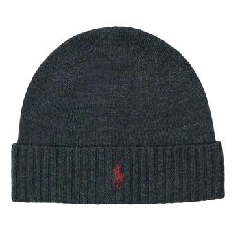 Clothes accessories Men hats Polo Ralph Lauren Merino Wool Beanie Grey / Dark