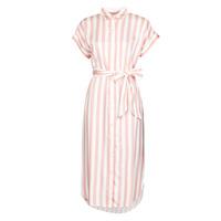 material Women Long Dresses Lauren Ralph Lauren CICERO White / Pink