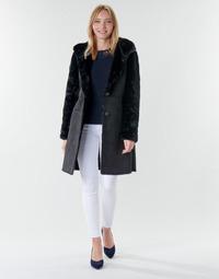 material Women coats Lauren Ralph Lauren COMBO FX SH-COAT Black