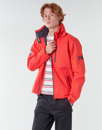 material Men Blouses Helly Hansen CREW HOODED MIDLAYER JACKET Red