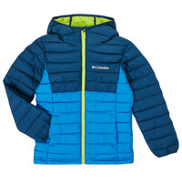 material Boy Duffel coats Columbia POWDER LITE HOODED JACKET Blue