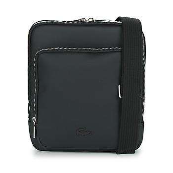 Bags Men Pouches / Clutches Lacoste MEN'S CLASSIC CROSSOVER BAG Black
