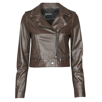 material Women Leather jackets / Imitation le Oakwood YOKO Brown