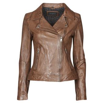 material Women Leather jackets / Imitation le Oakwood FOLLOW Cognac