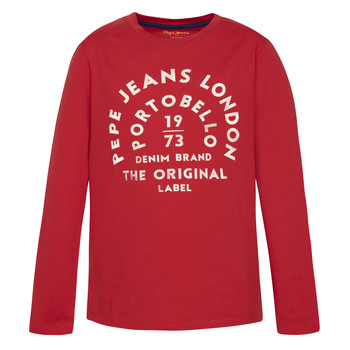 material Boy Long sleeved shirts Pepe jeans ANTONI Red