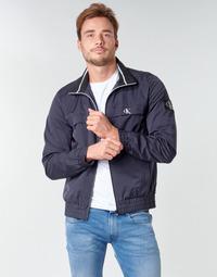 material Men Blouses Calvin Klein Jeans ZIP UP HARRINGTON Marine