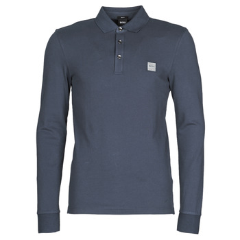 material Men long-sleeved polo shirts BOSS PASSERBY Marine