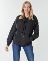 material Women sweaters Levi's STANDARD HOODIE Black