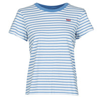 material Women short-sleeved t-shirts Levi's PERFECT TEE Blue
