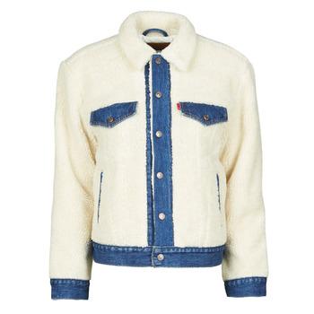 material Women Denim jackets Levi's EX BF PIECED TRCKR Sheep