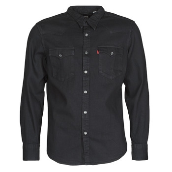 material Men long-sleeved shirts Levi's BARSTOW WESTERN STANDARD Black