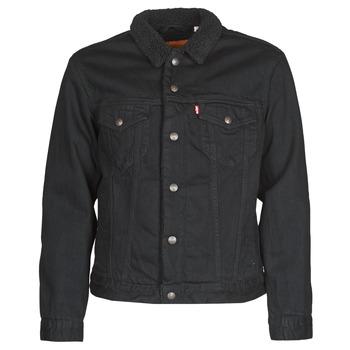 material Men Denim jackets Levi's TYPE 3 SHERPA TRUCKER Black