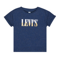 material Girl short-sleeved t-shirts Levi's DROP SHOULDER TEE Blue