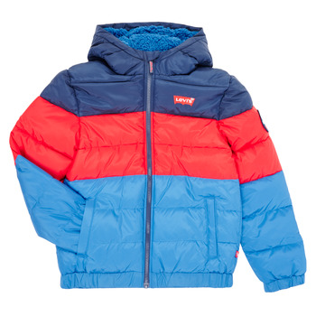 material Boy Duffel coats Levi's COLOR BLOCK PUFFER Blue