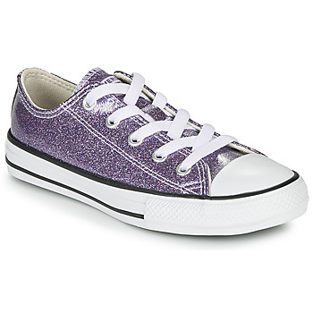 Shoes Girl Low top trainers Converse CHUCK TAYLOR ALL STAR - COATED GLITTER Violet
