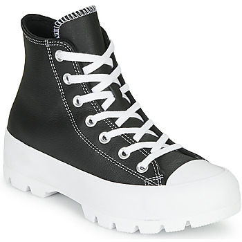 Shoes Women High top trainers Converse CHUCK TAYLOR ALL STAR LUGGED - FOUNDATIONAL LEATHER Black
