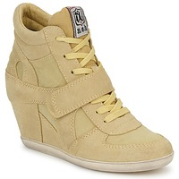 Shoes Women High top trainers Ash BOWIE Yellow / Pastel