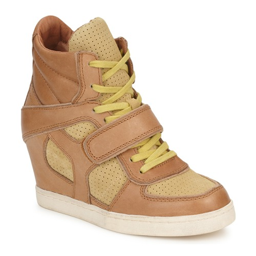Shoes Women High top trainers Ash COCA Brown / Yellow