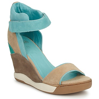 Shoes Women Sandals Ash HELOISE Brown / Blue