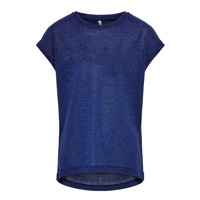 material Girl short-sleeved t-shirts Only KONSILVERY Marine