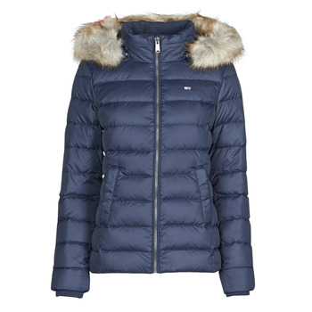 material Women Duffel coats Tommy Jeans TJW BASIC HOODED DOWN JACKET Marine