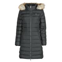 material Women Duffel coats Tommy Jeans TJW ESSENTIAL HOODED DOWN COAT Black