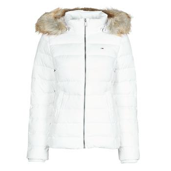 material Women Duffel coats Tommy Jeans TJW BASIC HOODED DOWN JACKET White