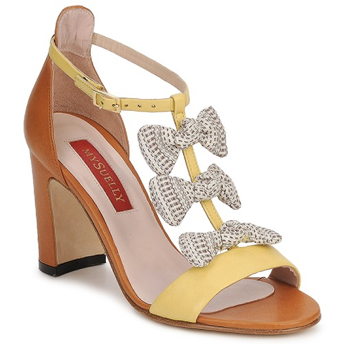 Shoes Women Sandals MySuelly NOE Yellow / Brown