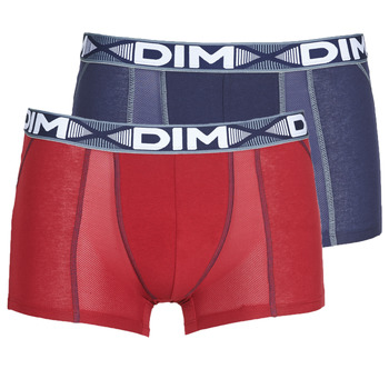Underwear Men Boxer shorts DIM 3D FLEX AIR X 2 Marine / Bordeaux