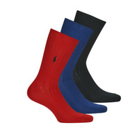 Accessorie Men Socks Polo Ralph Lauren ASX92 EGYPTIAN COTTON Marine / Black / Red