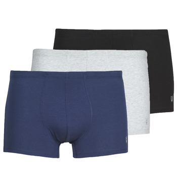 Underwear Men Boxer shorts Mariner PACK COTON BIO Black / Marine / Grey