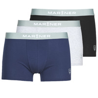Underwear Men Boxer shorts Mariner PACK COTON BIO X3 Black / Marine / Grey