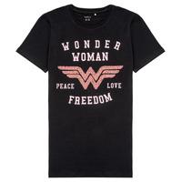 material Girl short-sleeved t-shirts Name it NKFWONDERWOMEN Black