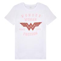 material Girl short-sleeved t-shirts Name it NKFWONDERWOMEN White